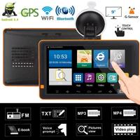 9inch Car GPS Navigator Bluetooth WiFi Android FM Night Vision AV IN 512M+16G Nav Truck GPS Navigators Automobile Vehicle GPS