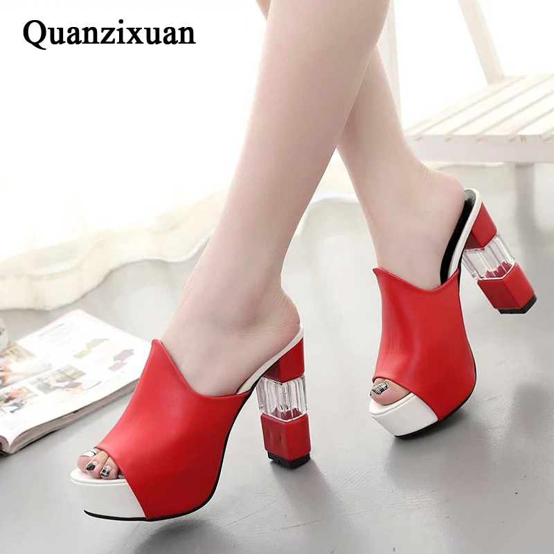 High Heel Sandals And Slippers Female Summer 2019 New Outdoor Thick With Fashion Thick Sandals Women Shoes Ladies Slippers