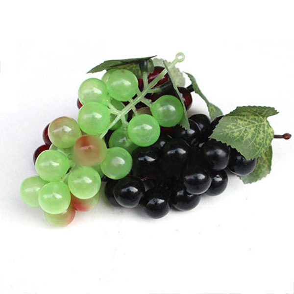 Bunch Lifelike Artificial Grapes Plastic Fake Decorative Fruit Food Home Decor TB Sale