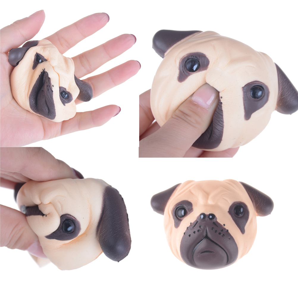 Cellphones & Telecommunications Mobile Phone Accessories Antistress Ball Pug Dog Face Mini Squeeze Squishy Toys Slow Rising Squeeze Stretchy Animal Healing Stress Kids Adults Toys Beautiful In Colour