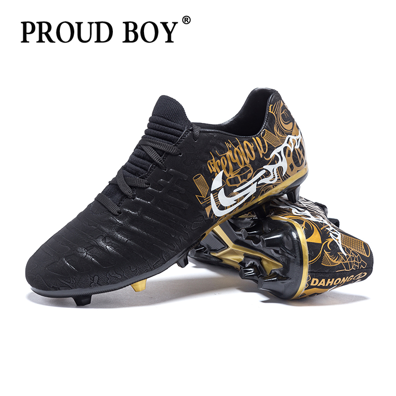 Soccer Shoes Breathable Football Boots Indoor Professional Training Cleats TF High Quality sneakers mens Turf Football shoes(China)