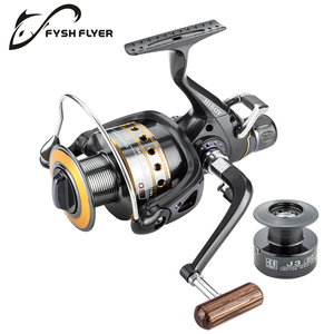 Image 3 - Fishing Reel Carp Spinning Reel J3FR Carbon Front and Rear Drags 18KG Drag 9+1 BB Metal Spool Double / Wooden Handles Available