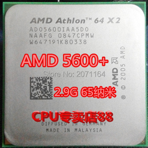Для AMD 5600 + 2.9 Г тактовой 65-нм 1 м кэш 89 Вт