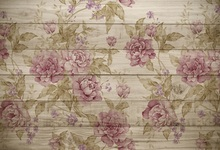 Laeacco Flowers Pattern Wooden Board Texture Baby Photography Background Customized Photographic Backgrounds For Photo Studio
