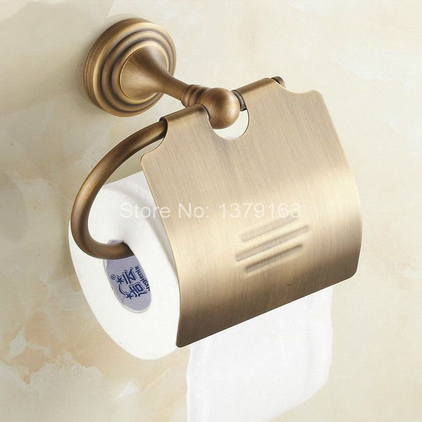 bathroom accessory vintage retro antique brass wall mounted toilet paper roll holder aba029china