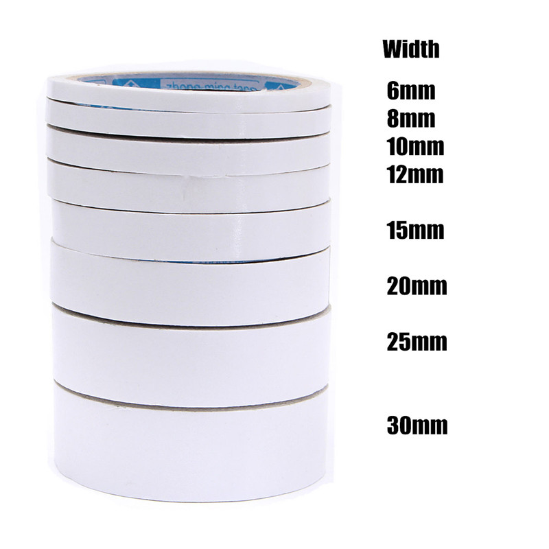 1 Roll 10M Double Sided Tape Mounting Tape Strong Adhesive Width 6mm~30mm