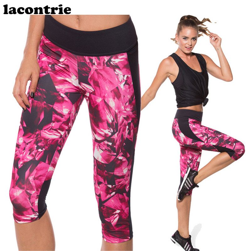 2017 Lacontrie Yoga Pants Women Skinny Fitness GYM Sports Pants 3D Print Yoga Leggings Running Jogging Tights Calzas Mujer