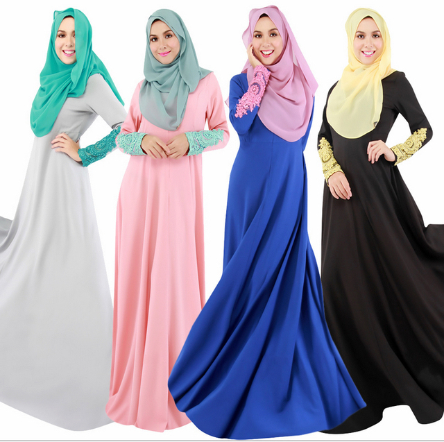 New  Embroidery Women  Djellaba Islamic Clothing For Women, Caftan Muslim Fashion Long Dress