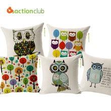 Actionclub decorativa casera del amortiguador almohadas cojines búhos decoración de estilo europeo al aire libre cojines y almohadas coche decoración hh513