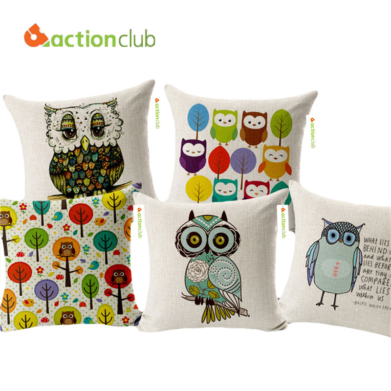 Actionclub Home Decorative Cushion Pillows European Owls Style Decor Throw  Pillows Outdoor Cushion And Pillows Car