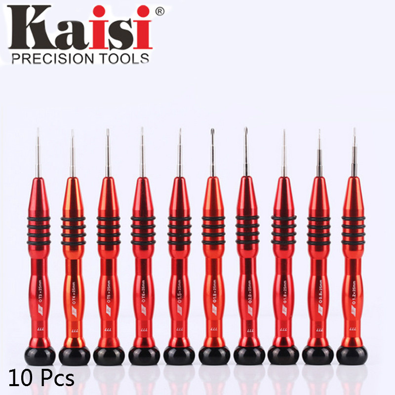 Kaisi 10 Pcs/set S2 Material Precision Screwdriver Set Multi-function Phillips&Torx Screwdrivers Hand Tool for Laptop Computer цена