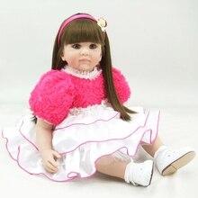 DollMai Exquisite Prinzessin puppe bebe reborn mädchen spielzeug 60cm Entzückende Boneca Silikon Vinyl rebron baby angefüllte puppen spielzeug geschenk