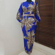 c091571f3397 Abiti Per Le Donne 2019 New African Elastico Bazin africano Baggy Pantaloni  di Stile della Roccia Dashiki Vestito Dal Manicotto .