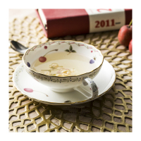 Chinese Style Cup 120ML High Quality Bone Porcelain Coffee Cup Tea Plate Disc A Set Of