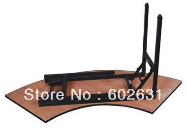 Складной Банкетный стол полумесяца, фанера 18 мм с ПВХ(белой) верхней частью, стальная Складная Ножка, 2 шт/коробка, быстрая