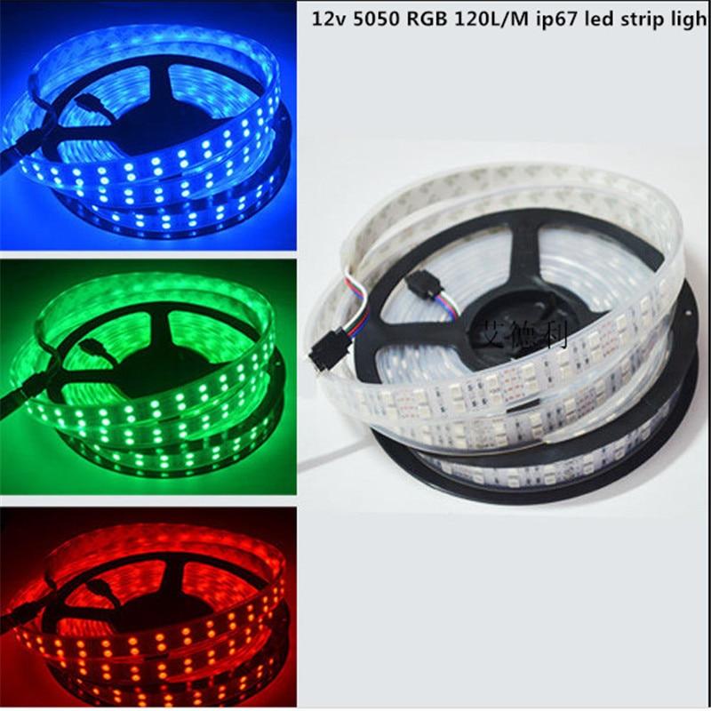 Bright 5050 Tape Light: 12v 5m RGB LED Strip Light 5050 SMD Diode RGB Tape Ip67
