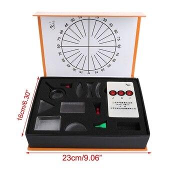 Lente cóncava convexa Prisma óptico conjunto físico juego óptico equipo de laboratorio