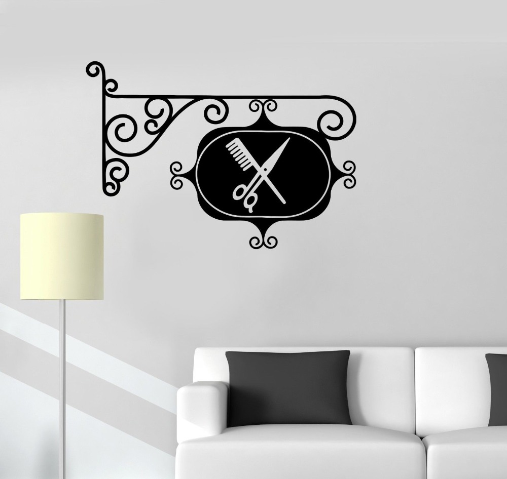 compare prices on shop home furniture online shopping buy low wall sticker vinyl decal sign barbershop hair salon stylist hairdresser door sticker room shop decor vinilos
