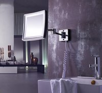 Free Shipping Modern Bathroom Products Solid Brass Chrome Finished In Wall Mounted Led Cosmetic Mirror Bath