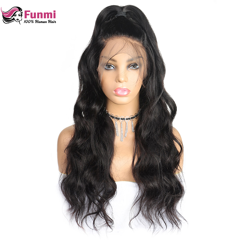 Funmi Brazilian Lace Front Human Hair Wigs 4x4 Closure Lace Wigs Remy Body Wave Lace Wigs Pre Plucked Lace Front Wigs Baby Hair