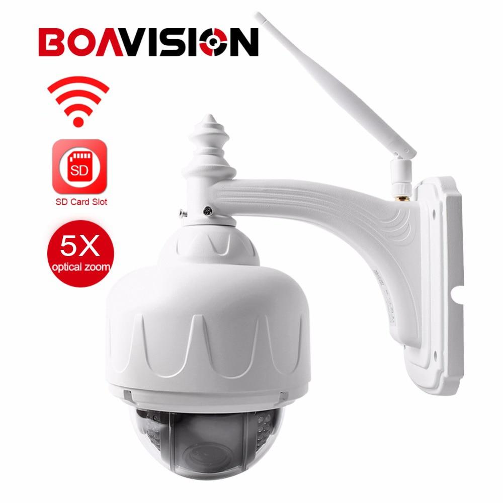 BOAVISION Wireless IP Speed Dome Camera Wifi HD 1080P 960P PTZ Outdoor Security CCTV 2.7-13.5mm Auto Focus 5X Zoom SD Card ONVIF security cctv 1080p audio wireless wifi ip camera 20x zoom auto tracking ptz ip camera ir wireless outdoor cpe ap