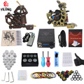 Professional Complete Tattoo Kit 2 Top Machine Gun 50 mix ink cup 10 Needle Power Supply 3000246-12