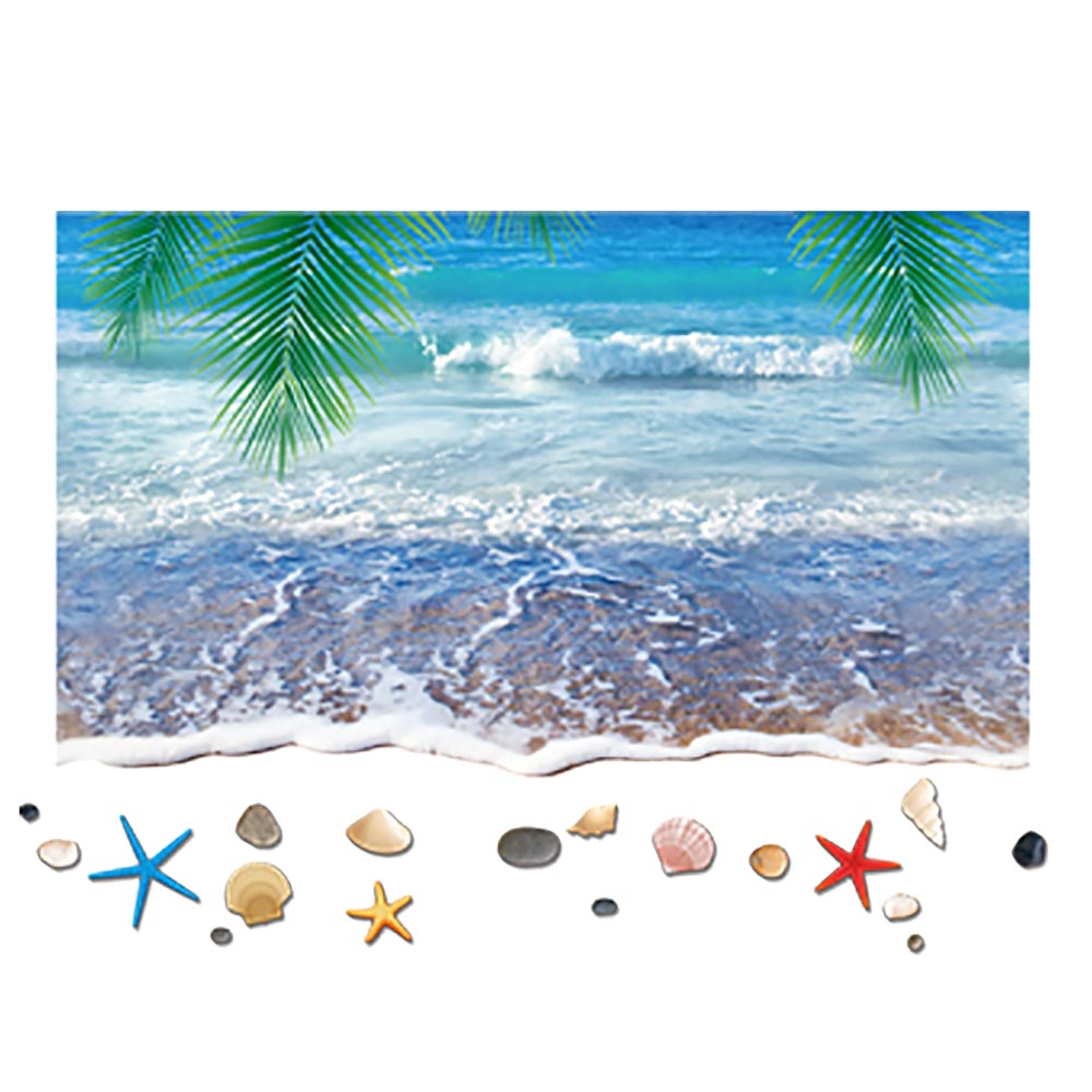 popular beach window murals buy cheap beach window murals lots removable coconut tree beach shell mural window wall stickers 3d holiday decal china