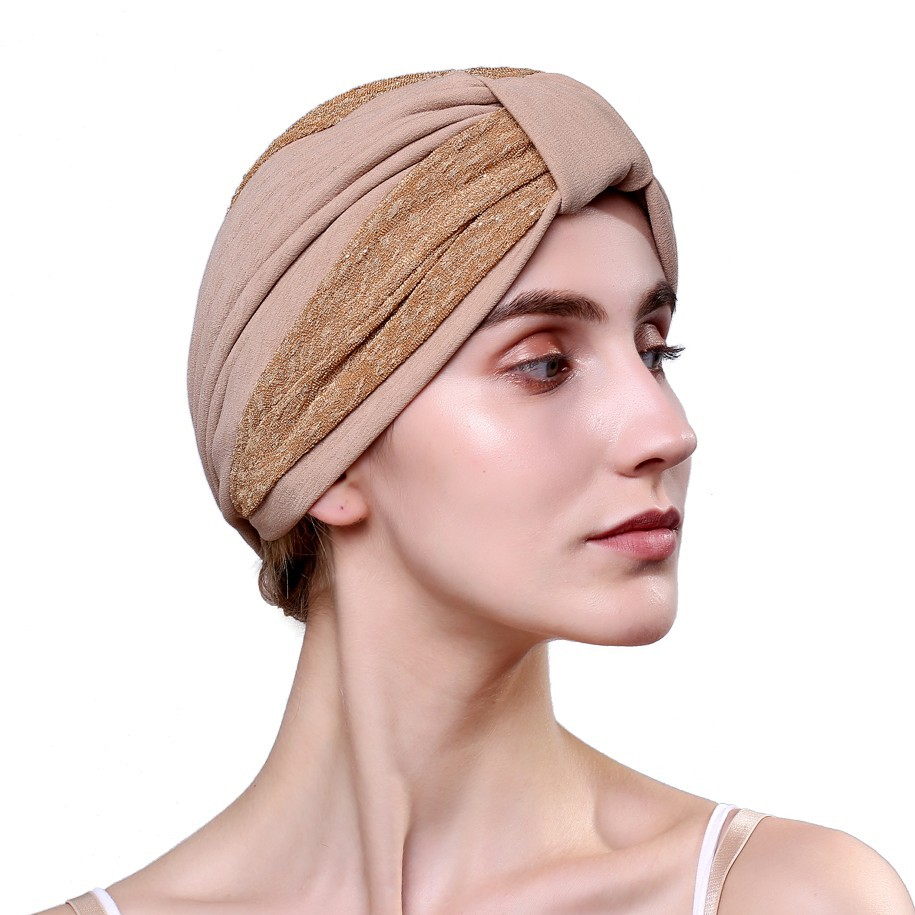 Women Fashion Hats New Patchwork Indian Cap Popular Muslim Plica Headscarf Hat Cotton Headwear   Skullies   &   Beanies