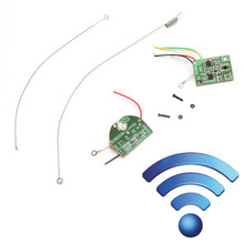 Remote 2CH Control 27MHZ Radio Channel Module Transmitter Receiver Board Antenna(China)