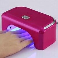 12 Вт светодиодная фототерапия Гели для ногтей лампы 110 В-220 В Маникюр Электрический инструмент для ногтей Сушилка ЕС или США разъем 5 цветов В...