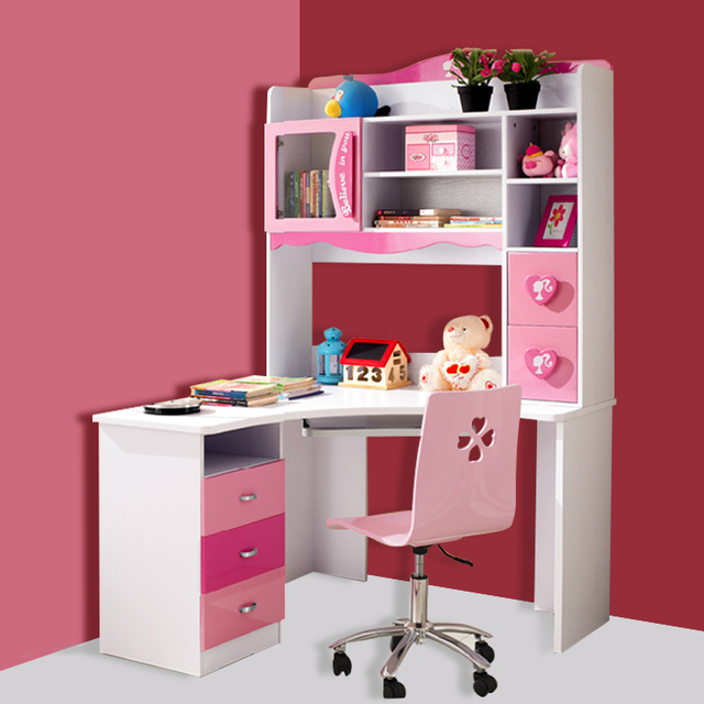 Children S Furniture Princess Piece Corner Computer Desk Bookcase Child Combination Storage Student