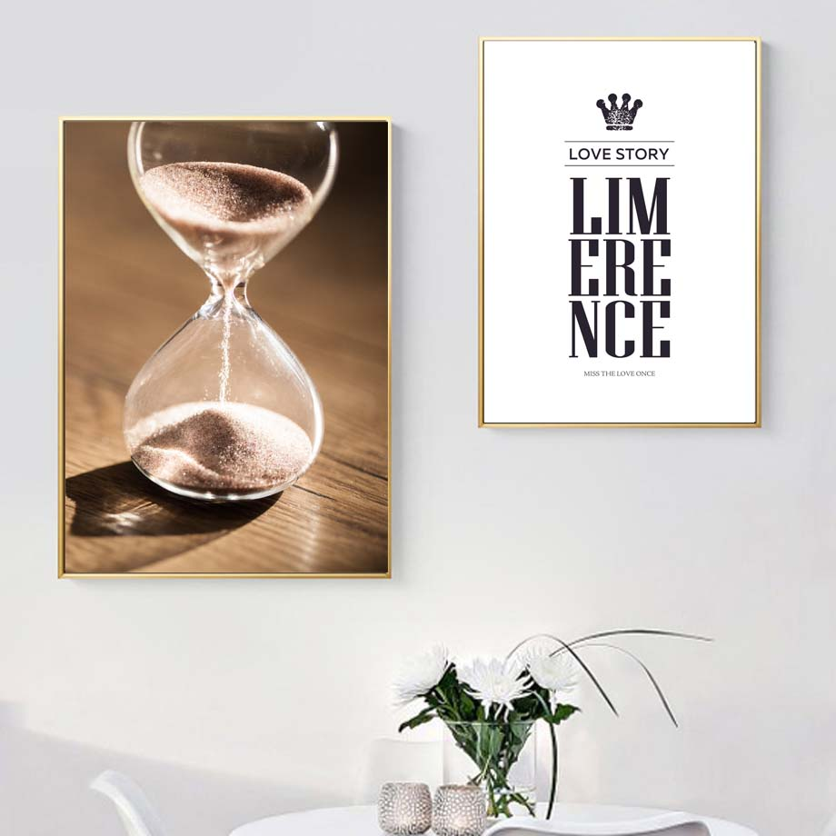 Baby Lips Hourglass Quote Nostalgic Poster Wall Art Canvas Painting Nordic Posters And Prints Wall Picture For Living Room Decor