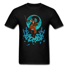 New Men T-shirt Mens Black Tshirts Woman Japan Style Samurai Ninja Shirts Print Tops & Tees Cotton Clothes Drop Shipping