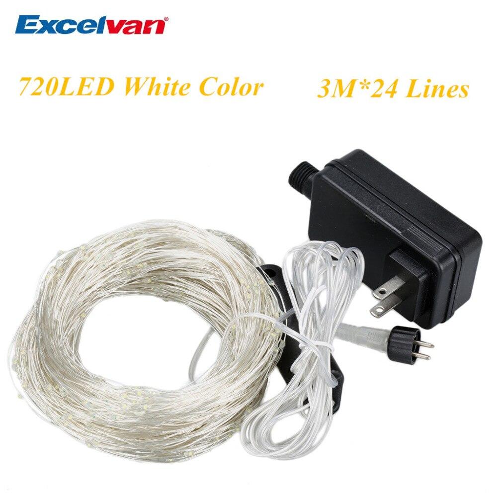 Excelvan 720 LED Branch String Lights,30LED x24 String Starry Lights ...