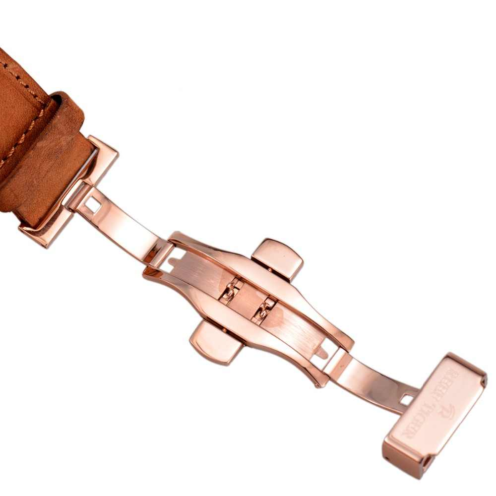 שונית טייגר/RT ספורט שעונים לגברים הכרונוגרף קוורץ שעון עם וסופר זוהר שעון איטלקי עגל רצועת עור RGA3029