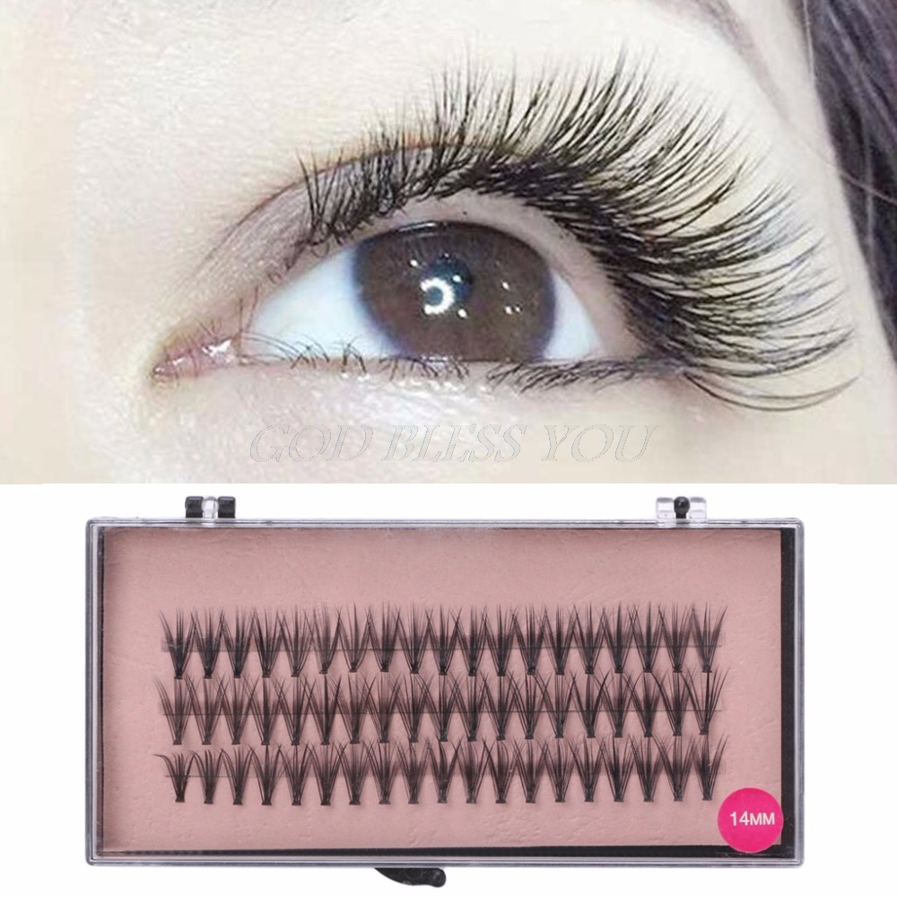 5pcslot Four Colors Flare Colourful Individual False Eyelashes Tray