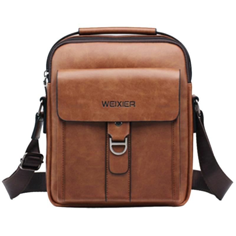 Weixier Messenger Bags Pu Leather Men Designer New Fashion Shoulder Bag Casual Zipper Office Messenger Bags
