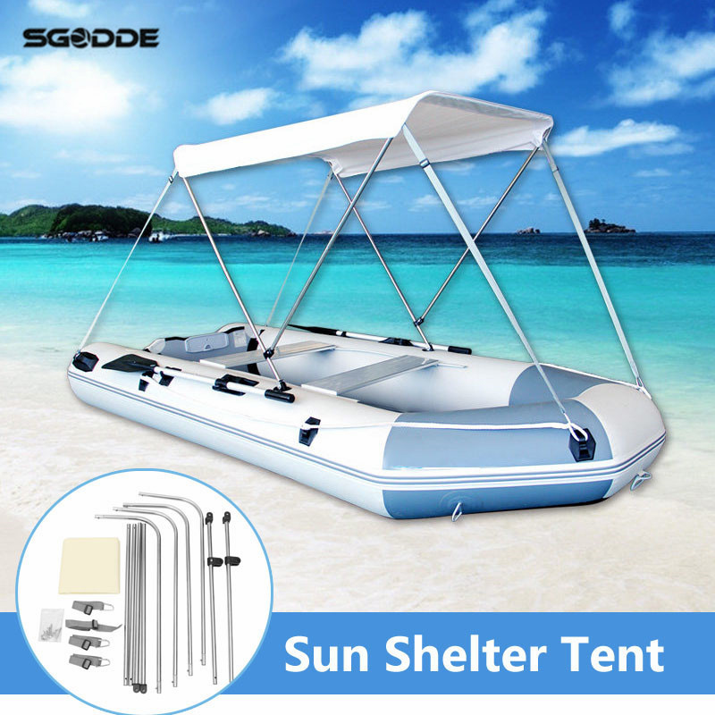 Outdoor Water Sports Rubber Boat Canopy Swimming Swim Fishing SunShelter Awning Sunshade Tent For 2 Person environmentally friendly pvc inflatable shell water floating row of a variety of swimming pearl shell swimming ring