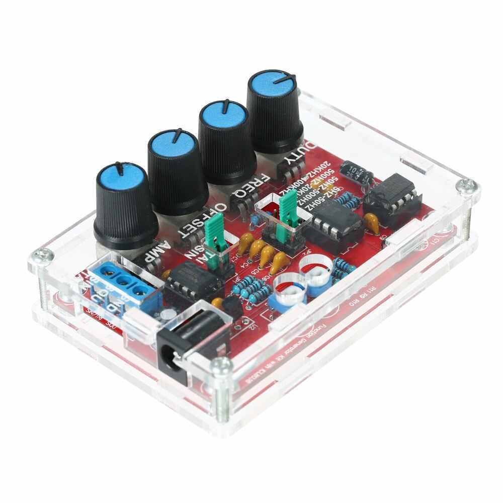Máy Phát tín hiệu DIY Bộ Chức năng Máy phát điện tổng hợp 5Hz ~ 400 Khz Điều Chỉnh Tần Số Biên Độ ICL8038