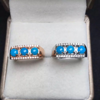 Round 4mm Fine Jewelry On Sale Offering Real 925 Sterling Silver Natural High Class Us Blue