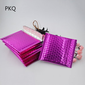 Image 5 - 50pcs/lot Gold Aluminized Foil metallic bubble mailer high quality CD/DVD 15*13cm colorful Bubble Envelope Bubble Film Shock Bag