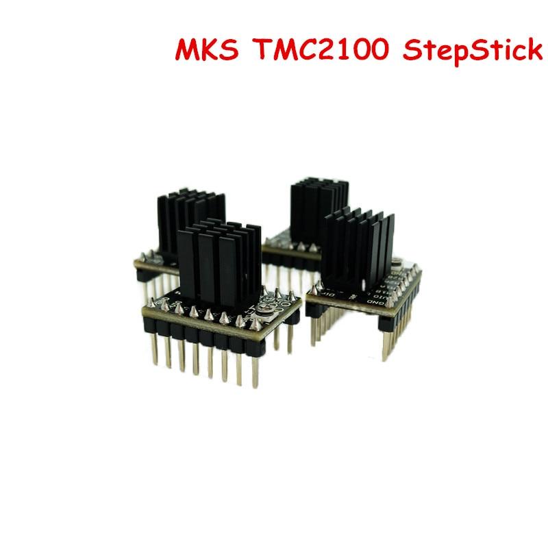 4 Pcs Lot MKS TMC2100 StepStick Stepper Motor Driver Module Board ultra silent Controller Superior Protection