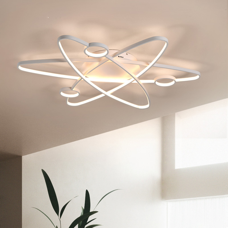 Image 2 - LICAN Modern Led Ceiling Lights For Living Room Study Room Bedroom Home Dec lamparas de techo Modern Led Dimming Ceiling Lamp-in Ceiling Lights from Lights & Lighting