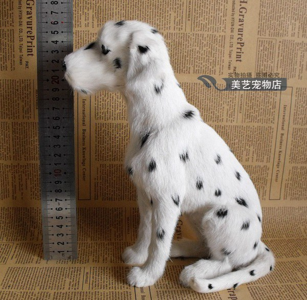 simulation squatting Dalmatian dog 20x12x25cm model,polyethylene&fur spotted dog handicraft toy home decoration Xmas gift b3831 big simulation sitting dog polyethylene