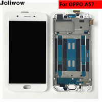 joliwow For OPPO A57 LCD Display+Touch Screen+frame+tools Digitizer Assembly Replacement for 5.2 inch