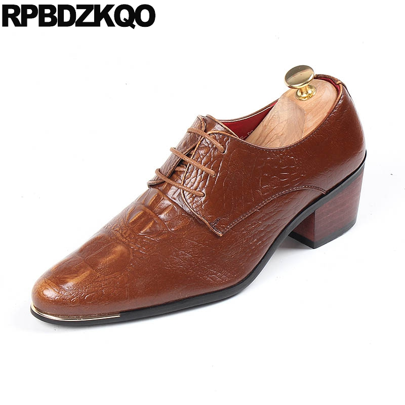 Men's Shoes Formal Shoes China Designer Brand Male Brown Dress Italian Crocodile Skin Leather Office Footwear Social Cheap Cocodrilo Formal Shoe For Men Handsome Appearance