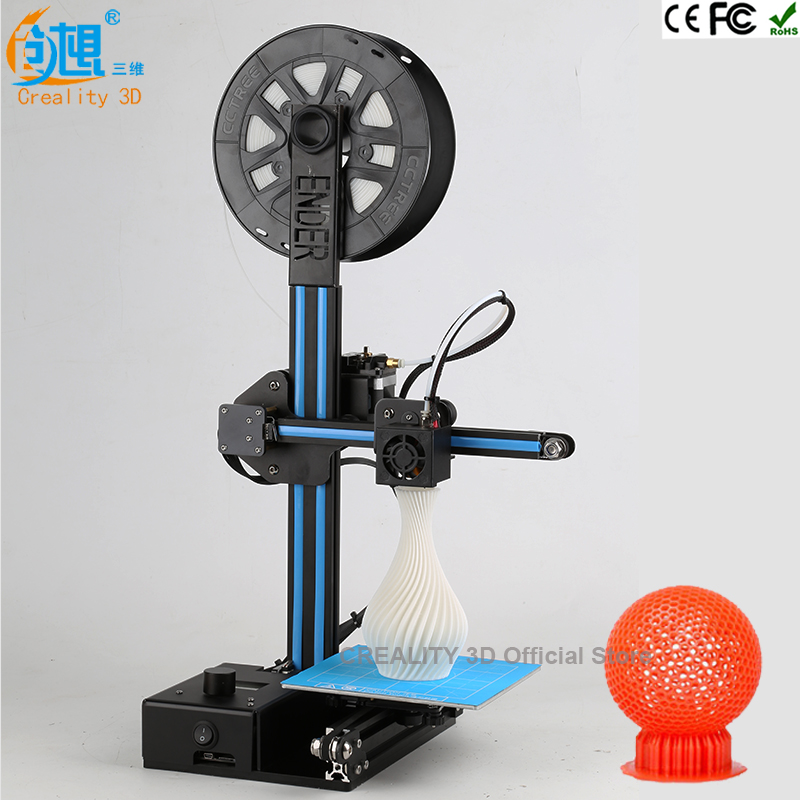 Newest Ender-2 Cheap 3D Printers CREALITY 3D Printer DIY KIT Reprap Prusa I3 Sheetmetal Structure 150*150*200mm (5.9*5.9*7.9in)