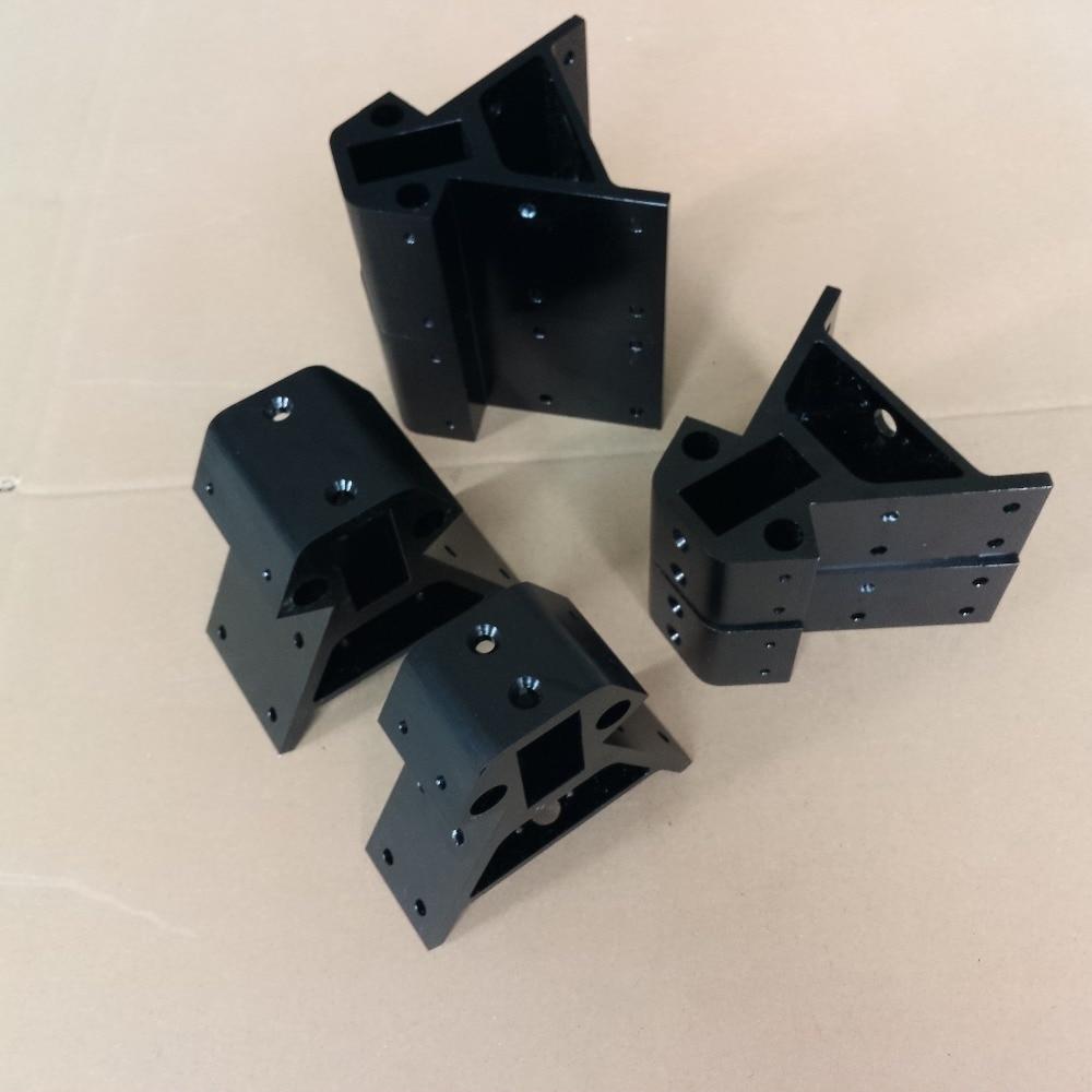 3D printer parts 2040 Metal Corner Alu Vertex for Kossel XXL or XXXL for NEMA23 Stepper Motor Black 2040 NEMA23 6pcs/set женский жилет new xxl xxxl 6 ws0001