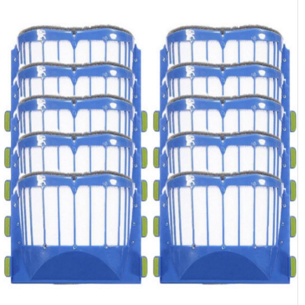 10 pcs AeroVac Blue Filters  for  irobot roomba 536 550 551 552 564 595 Series 600 610 615 620 630 650 660 Series samsung rs 552 nruasl