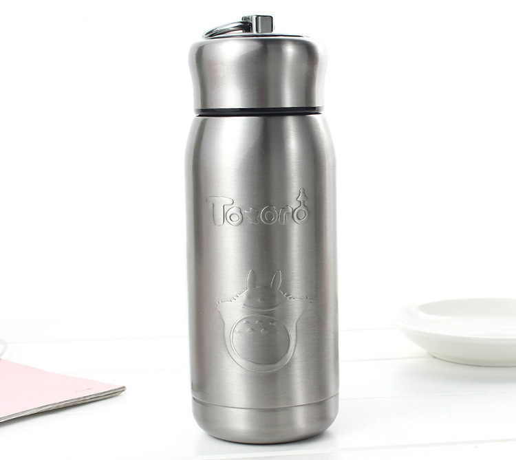 330ML Good quality brand Design Mini Stainless steel Metal Thermos Water Bottle Porket Portable Car coffee mug Shaker bottle